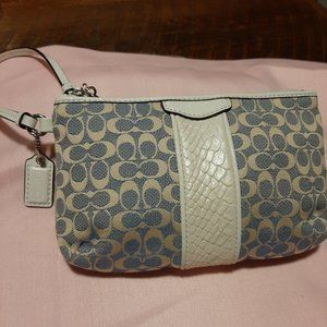 Coach Wristlet with snake trim accent